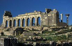 Volubilis roman ruins, Morocco,