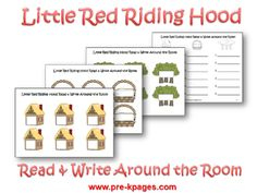 Little Red Riding Hood Read and Write Around the Room activity via www.pre-kpages.com