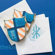 Family Crest Wedding Cookies