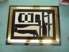 Diseño mosaico con vidrios en Blanco Y Negro - Producto de Rosa Kitsch