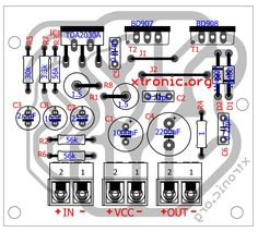 40 watt amplifier transistor TIP142 layout 700x632 TDA2030 + transistors BD908/BD907 18W HI FI audio amplifier tda2030 tda power amplifier circuit power amplifier Circuits Audio amplifier tda Amplifier