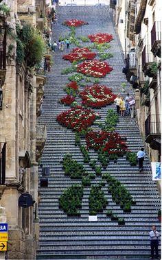 La Scala Flower Festival, Staircase of Santa Maria del Monte