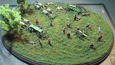 Peinture de Guerre: Napoléonien : Batterie d'artillerie française au 1...