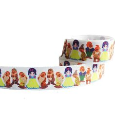 1 yard 1'' 25mm Snow White Little Girl  printed by BOWSANDNECKLACE, $1.50