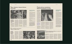fictional newspaper for a typography class Psg, Journal, Print Design, Typography, Type Design, Journals