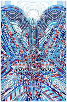 Rich Psychedelic Patterns in Modern Illustrations