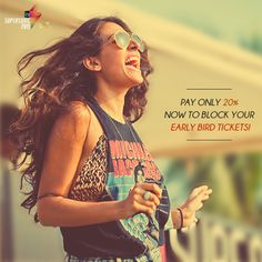 Amazing Early Bid Tickets Only For You By just paying 20% now and the rest 80% on or before 15th September, 2015. Book Tickets for Vh1 Supersonic Goa. #GoSupersonic with #Meraevents.  Book Tickets On: http://www.meraevents.com/event/vh1-supersonic-goa&Ucode=DMSY