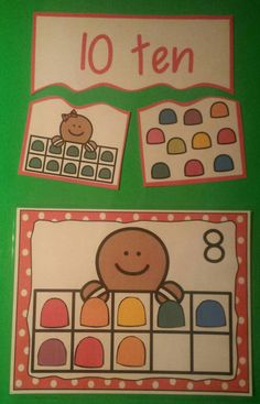 Ten Frame Puzzles and Counting Mats Gingerbread Theme