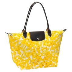 Longchamp Darshan Tote Flower Bag Yellow ...... I bought this  and absolutely love it!