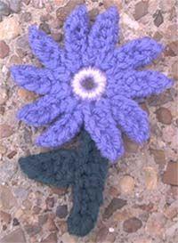 Marlo's Crochet Corner - Crochet Flower 2001 - Free Crochet Pattern
