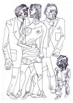 "Saatchi Art Artist Pedro Uribe Echeverria; Drawing, ""POT DE BIENVENUE"" #art"