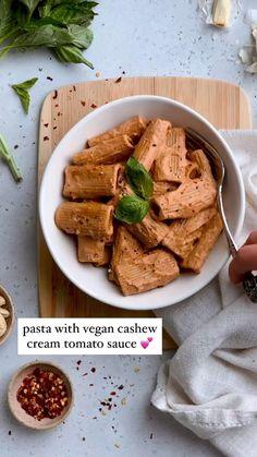 Pasta With Vegan Cashew Cream Tomato Sauce | Walder Wellness, RD
