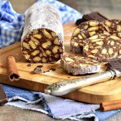 Chocolate Salami Recipe, Salami Recipes, Waffles, Cookies, Make It Yourself, Breakfast, Sweet, Desserts, Food