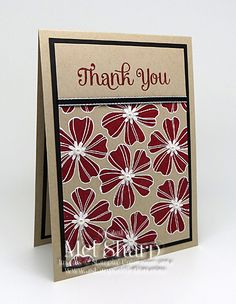 Mel Sharp, Stampin' Up!, stampin up, SU, su, flower shop, four you, handmade, card, thank you