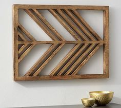 Glided Arrow Panels #potterybarn (family room or niche by mud room?)