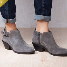 726446543a8c Chic ankle boots for the new season arrive in the form of the genuine suede Sadie  bootie from White Mountain. Bootie features a pointed toe