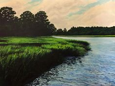 Late in the Day on Richardson Creek | Elise Nuckols Art | Charleston Coastal Artist