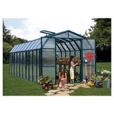 The Prestige 2 Twin-wall is the full greenhouse package. It has all of the great features you need and comes fully loaded with accessories like benches and kits for both drip irrigation and trellising. The house itself features twin-wall panels that diffuse the light and increase insulation. Weatherproof frame now features simplified assembly with the pin & lock system, while the roof panels simply slide into place. <br>Double doors, included roof vent, automatic vent openers and si...