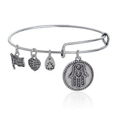 Alex and Ani Hand of Fatima Charms Expandable Wire by Aclasssupply