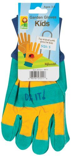 This Blue & Yellow Small Garden Gloves is perfect! Gifts For Family, Gifts For Kids, Kids Gardening Gloves, Kids Ties, Dilly Dally, Thing 1, Work Gloves, Outdoor Toys, Working With Children
