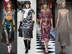 tendencias-moda-oi-16-lentejuelas Dolce & Gabbana, Valentino, Sequin Skirt, Sequins, Skirts, Gucci, Chanel, Trends, Fashion