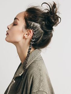 freepeople: Add a new element to your braids with Hair Rings - Looking for Hair Extensions to refresh your hair look instantly? KINGHAIR® only focus on premium quality remy clip in hair. Visit - - for more details Hair Inspo, Hair Inspiration, Writing Inspiration, Hair Dos, Your Hair, New Hair Trends, Hair Rings, Cool Hairstyles, Gypsy Hairstyles