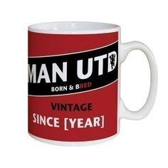 Personalised Manchester United Vintage Mug #UnitedGifts #ManchesterUnited #FootballGifts #MUFC £10.99