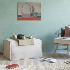 The clever multi-storey Loaf footstool that's also a table, chair and bed – it's perfect for small-space living Small Space Living, Small Spaces, Table And Chairs, A Table, Small Lounge, Chaise Chair, Comfy Sofa, Guest Bed, Modular Sofa