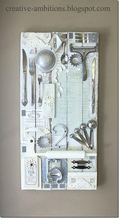 Mixed Media Kitchen Art