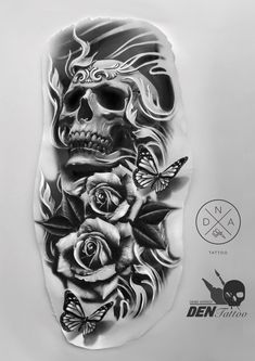 Skull With Roses Tattoo S Tattoos Tattoo Designs Tattoo