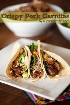 """Authentic Tex-Mex Carnitas, I will be making these as soon as I find a pork butt on sale and then will move to my """"Things I Have Tried Board""""  am pinning a slaw to go with them as well"""