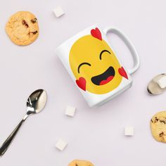 Happy Emoji Coffee Mug, Funny Emoji Gifts, Cute Emoji Love Cup, Unisex Office Mug, Stocking Filler Mug, Secret Santa Present, Emoji Love, Cute Emoji, Decorated Liquor Bottles, Stocking Fillers, Stocking Stuffers, Secret Santa Presents, Diy Food Gifts, Funny Emoji, Friend Birthday Gifts