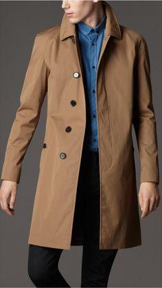 Burberry London men's single breasted cotton rain coat