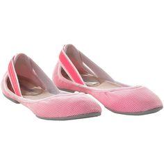 Stella McCartney ~ Women's Psitacula Ballerina Shoes, running white / powder / turbo