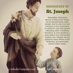 Memorare Prayer to St Joseph