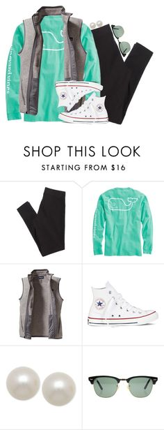 """""""how to be a prep in the fall/winter pt. 2"""" by smbprep ❤ liked on Polyvore featuring American Eagle Outfitters, Vineyard Vines, Patagonia, Converse, Honora and Ray-Ban"""