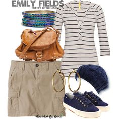 Inspired by Shay Mitchell's character Emily Fields from the ABC Family teen drama Pretty Little Liars.