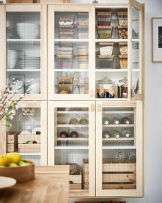 IKEA usually in square and rectangular glass, TORHAMN glass front door, ÖS. IKEA usually Ikea Kitchen Cabinets, Kitchen Countertops, Kitchen Furniture, Kitchen Interior, Kitchen Decor, Furniture Stores, Ikea Pantry, Kitchen Pantry, New Kitchen
