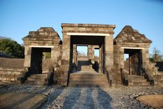 """""""Ratu Boko (Boko queen )temple"""". Ratu Boko complex was first found in 1790 by van Boeckhlotz. Yet, a more in depth research was conducted a hundred years afterwards and the result was published in a book entitled Keraton van Ratoe Boko. According to some historians, the temple serves several functions as the palace fort, place of worship and cave."""