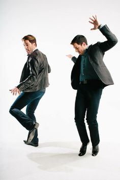 Drew and Jonathan get down during the @Revive Magazine holiday cover shoot!