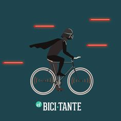 Darth Vader riding a Fixed gear bicycle GIF for the e magazine El Bicitante #DarthVader #ElBicitante #StarWars #GIF #Bicycle #fixed #fixie #illustration #bicycle #ride #theforce