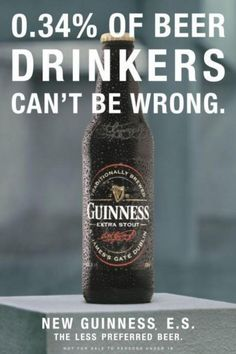 analysis of the guinness advertising Videostep aside nike and apple guinness is fast becoming the icon of great branding their made of more brand idea has taken advertising to a new and inspiring place this week we get a.