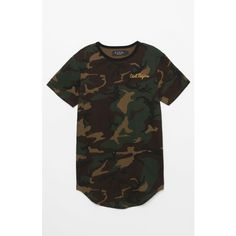 Civil Death From Above Camo Drop T-Shirt ($38) ❤ liked on Polyvore featuring tops, t-shirts, basic tees, camouflage tee, short sleeve tee, basic tshirt and dragon t shirt
