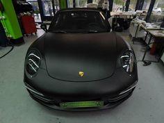 Matte Black Porsche 911 Targa