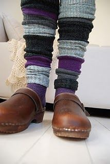 "read her blog for her ""how to make legwarmers from old socks"" :)"