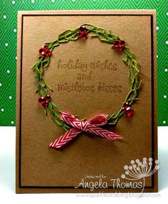 Sentiment from a Eve under the mistletoe by Stamping Bella