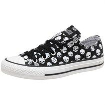 Converse Womens CT All Star OX Skulls Black/White 19.99 GBP at Mm and Direct