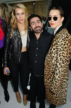 Pin for Later: See All the Celebrities at London Fashion Week Alice Dellal, Johnny Coca, and Noomi Rapace At the Mulberry show.