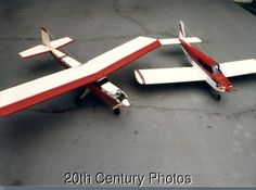 VIEW OF MODEL AIRPLANES ON GROUND
