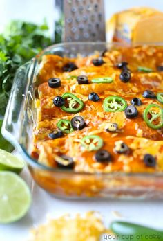 Chicken Enchiladas recipe from @lizzyscupofcake made with Tillamook Cheese